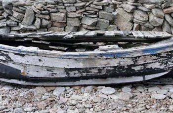 Blå båt norra öland